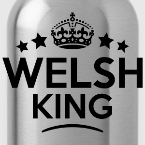 welsh king keep calm style crown stars T-SHIRT - Water Bottle