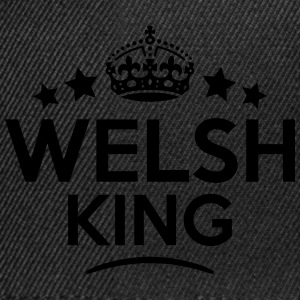 welsh king keep calm style crown stars T-SHIRT - Snapback Cap
