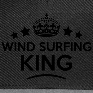 wind surfing king keep calm style crown  T-SHIRT - Snapback Cap