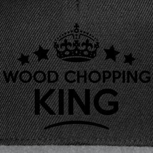wood chopping king keep calm style crown T-SHIRT - Snapback Cap