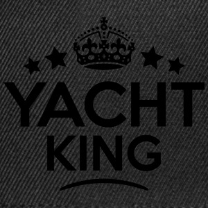 yacht king keep calm style crown stars T-SHIRT - Snapback Cap