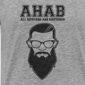 ALL HIPSTERS ARE BASTARDS - Funny Parody  Langarmshirts - Männer Premium T-Shirt