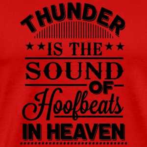 Thunder is the sound of hoofbeats in Heaven Manches longues - T-shirt Premium Homme