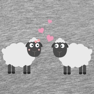 In love with sheep Long Sleeve Shirts - Men's Premium T-Shirt