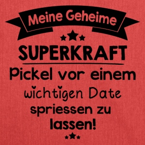Pickel / Superkraft T-Shirts - Schultertasche aus Recycling-Material