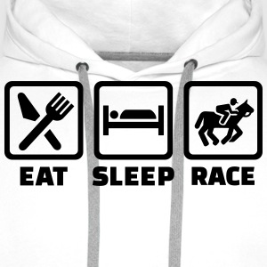 Eat sleep race T-Shirts - Männer Premium Hoodie