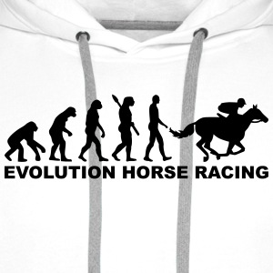 Evolution horse racing T-Shirts - Männer Premium Hoodie