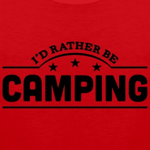 id rather be camping banner t-shirt - Men's Premium Tank Top