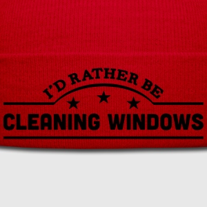 id rather be cleaning windows banner cop t-shirt - Winter Hat