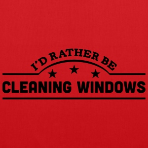 id rather be cleaning windows banner cop t-shirt - Tote Bag
