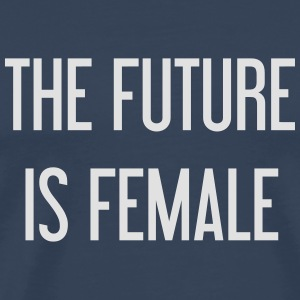 The future is female Manga larga - Camiseta premium hombre