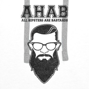 ALL HIPSTERS ARE BASTARDS - Funny Parody  Baby Bibs - Men's Premium Hoodie