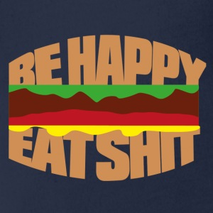 Hamburger be happy eat shit T-shirts - Ekologisk kortärmad babybody