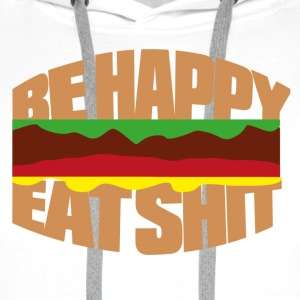 Hamburger be happy eat shit Casquettes et bonnets - Sweat-shirt à capuche Premium pour hommes