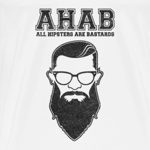 ALL HIPSTERS ARE BASTARDS - Funny Parody  Other - Men's Premium T-Shirt