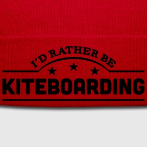 id rather be kiteboarding banner t-shirt - Winter Hat