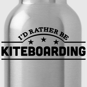 id rather be kiteboarding banner t-shirt - Water Bottle