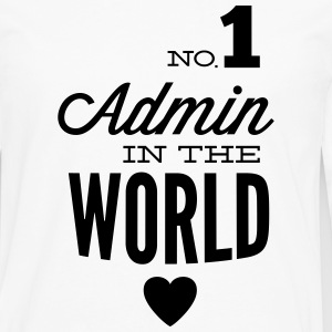 The best Admin in the world T-Shirts - Men's Premium Longsleeve Shirt