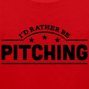 id rather be pitching banner t-shirt - Men's Premium Tank Top
