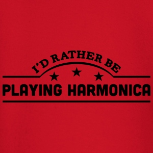 id rather be playing harmonica banner co t-shirt - Baby Long Sleeve T-Shirt