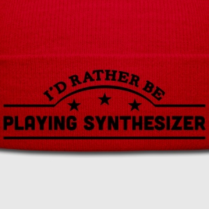 id rather be playing synthesizer banner  t-shirt - Winter Hat