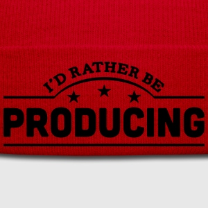 id rather be producing banner t-shirt - Winter Hat