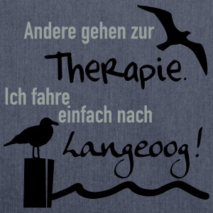 Therapie Langeoog T-Shirts - Schultertasche aus Recycling-Material