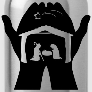 Christmas Crib hands T-Shirts - Water Bottle
