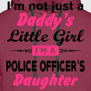 Im Not A Daddy Little Girl Im A Police Officer Da T-Shirts - Men's Premium Hoodie