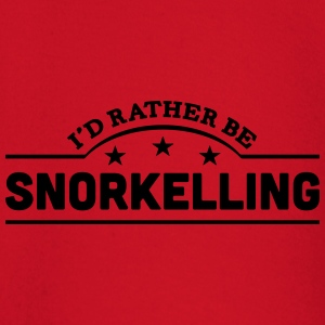 id rather be snorkelling banner t-shirt - Baby Long Sleeve T-Shirt