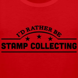 id rather be stamp collecting banner cop t-shirt - Men's Premium Tank Top