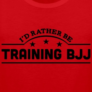 id rather be training bjj banner t-shirt - Men's Premium Tank Top