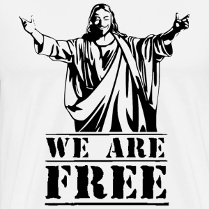 Guy Fawkes We Are Free Langarmshirts - Männer Premium T-Shirt