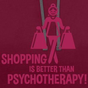 Shopping Is Better Than Psychotherapy! Tote Bag - Contrast Colour Hoodie