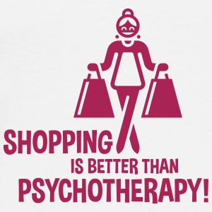 Shopping Is Better Than Psychotherapy! Pillowcase - Men's Premium T-Shirt