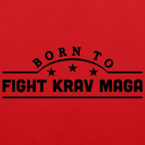 born to fight krav maga banner t-shirt - Tote Bag