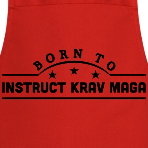 born to learn krav maga banner t-shirt - Cooking Apron