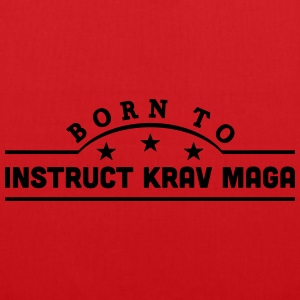 born to learn krav maga banner t-shirt - Tote Bag