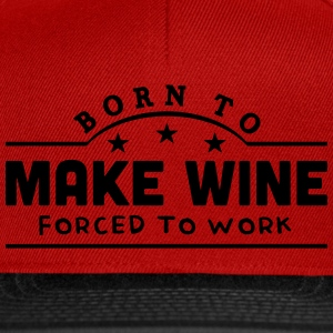 born to motor boat forced to work banner t-shirt - Snapback Cap