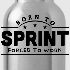 born to sprint banner t-shirt - Water Bottle