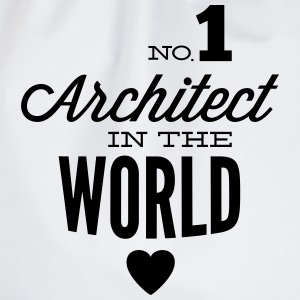 Best architect in the world Hoodies & Sweatshirts - Drawstring Bag