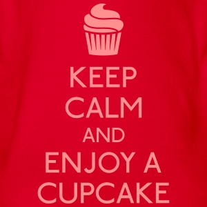 Keep Calm Cupcake Shirts - Organic Short-sleeved Baby Bodysuit