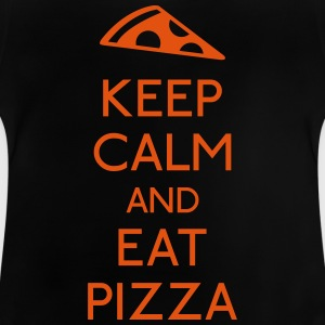 Keep Calm Pizza holde roen pizza T-shirts - Baby T-shirt