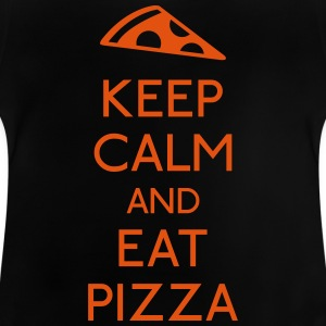 Keep Calm Pizza mantener calma pizza Camisetas - Camiseta bebé