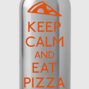 Keep Calm Pizza mantener calma pizza Camisetas - Cantimplora