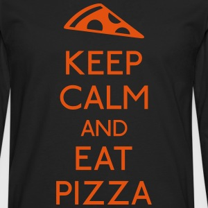 Keep Calm Pizza mantener calma pizza Camisetas - Camiseta de manga larga premium hombre
