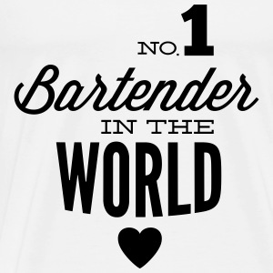The best bartender in the world Tops - Men's Premium T-Shirt