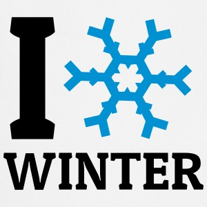 I love Winter ik hou van winter Shirts - Keukenschort