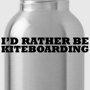 I'd rather be kiteboarding t-shirt - Water Bottle