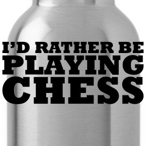 I'd rather be playing chess t-shirt - Water Bottle